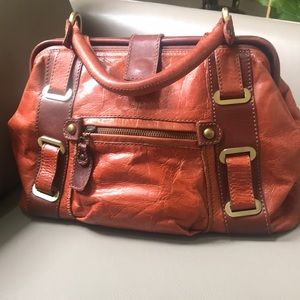 nuovedive Bags - Nuovedive genuine two tone leather satchel bad